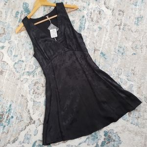 Free People Black Mini Slip Dress